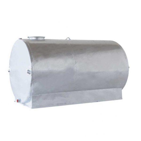 Serbatoio zincato cilindrico carrellabile uso trasporto