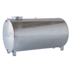 Serbatoio zincato cilindrico orizzontale